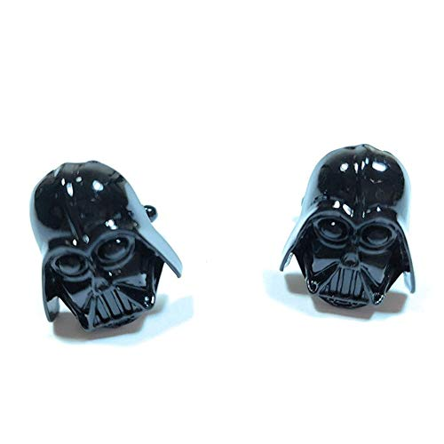 Teri's Boutique Men's Jewelry Star Wars Darth Vader Head Black Cufflinks Pair w/Gift Box