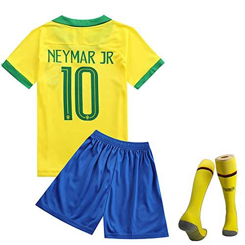 MJAD Brazilië team wereldkampioenschap voetbal uniform pak, Griezmann nr. 7 heren korte mouwen wedstrijdpak nr. 11 trainingspak Salah kinderen tricot uniformen modern 18 EU Yellow10