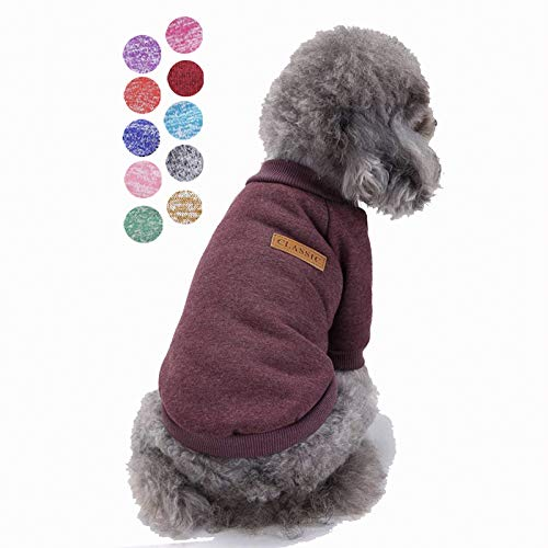Bwealth Small Dog Clothes, Dog Sweaters for Small Dogs, Cute Classic Warm Pet Sweaters for Dogs Girls Boys, Cat Sweater Dog Sweatshirt Winter Coat Apparel for Small Dog Puppy Kitten Cat (XXS, Brown)