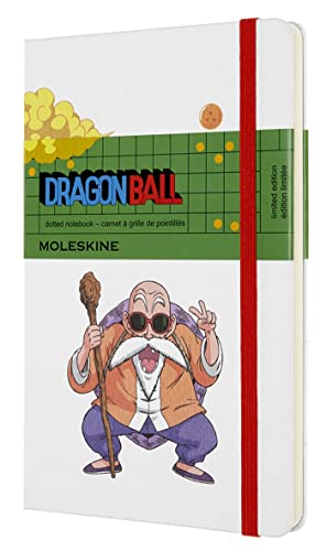 """Moleskine Limited Edition Dragon Ball Z Notebook, Hard Cover, Large (5"""" x 8.25"""") Dotted, Master Roshi, 240 Pages (8053853603777)"""