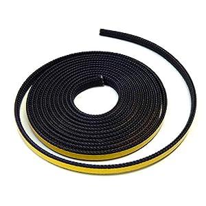 Cinta de sellado autoadhesiva para chimenea, 3 m, diámetro 8 x 2 mm, compatible con diferentes modelos de chimenea…
