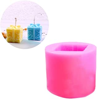 SUPVOX 1PCS Silicone Candle Mold Christmas Gift Box Mould Soap Candle Mould Craft Party Festival DIY Wedding Decor