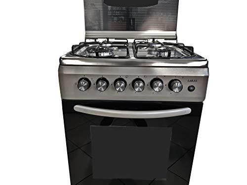 Larel CUC.L5005VX Cucina 50x50 forno a gas + grill Inox coperchio in vetro