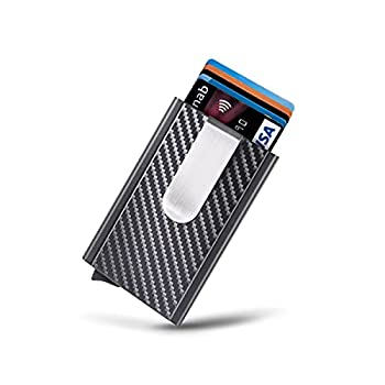 Mosiyeef Minimalist Wallet for Men,Card Hold Wallet Metal Money Clip Wallet Pop Up Wallet RFID Credit Card Holder Gifts