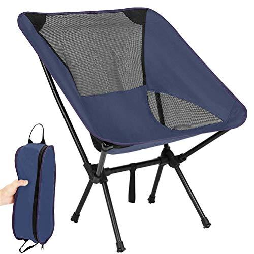 Tenwan Silla plegable portátil de pesca ligera 600D Oxford tela asiento playa silla para picnic al aire libre barbacoa con bolsa de almacenamiento