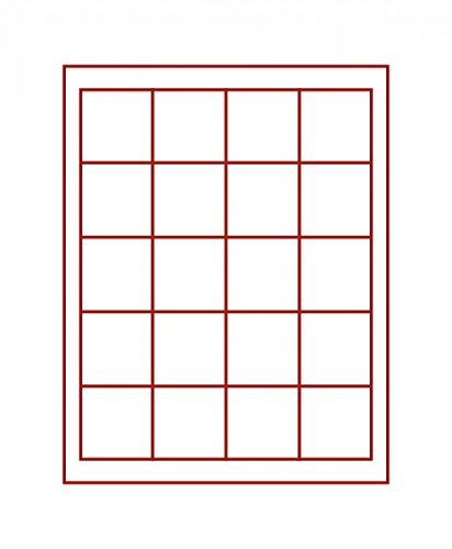 LINDNER Das Original Box Monnaies FUMÉ à 20 alvéoles carrés pour Monnaies/Capsules jusqu'à Ø 47 mm