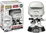 Star Wars - Figuara de vinilo: POP! Bobble: Star Wars: E8 TLJ: Soldado de la primera orden -Flame Trooper
