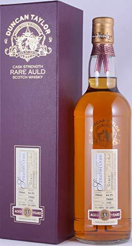Strathclyde 1973 31 Years Oak Cask 74060 Duncan Taylor Cask Strength Rare Auld Edition Lowland Single Grain Scotch Whisky 64,2% Vol. - eine von nur 152 Flaschen!