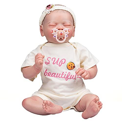 YIHANGG 19 Pulgadas Muñeca Reborn 48 cm Bebe Rreborn Muñeca Recién Nacida Premie Dibujo A Mano Cabello Chica Realista Pintura A Mano Muñeco De Arte Coleccionable Realista Regalos