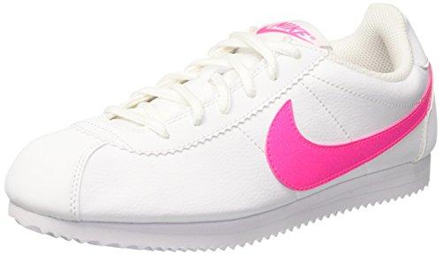 Nike Cortez GS, Sneaker a Collo Basso Bambina, Multicolore (White/Pink Blast), 38 EU