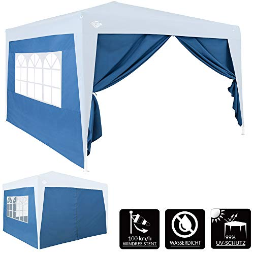 Deuba 2x 3x2m Gazebo Replacement Exchangeable Side Panel Wall with Window Marquee Sidewall Awning Canopy (Blue)