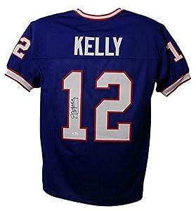 Jim Kelly Autographed/Signed Buffalo Bills Blue XL Jersey JSA
