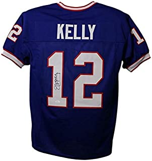 Jim Kelly Autographed/Signed Buffalo Bills Blue XL Jersey JSA