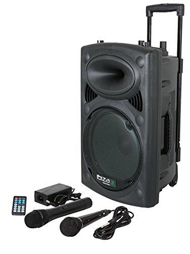 Mobile Beschallungsanlage mit 2 Mikrofonen \'\'PORT10VHF-BT\'\', 15-6018