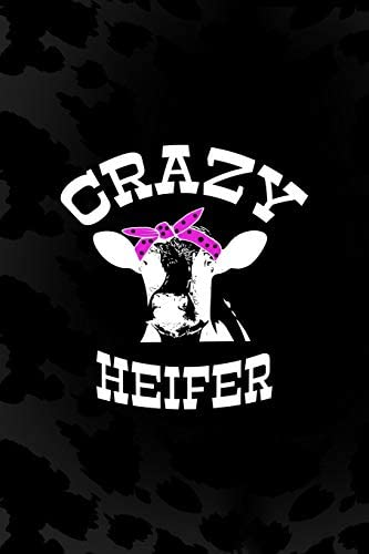 Crazy Heifer Notebook Journal Composition Blank Lined Diary Notepad 120 Pages Paperback Black product image