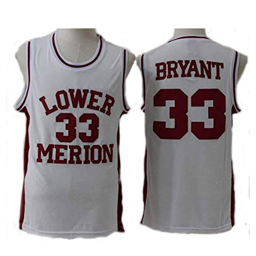 Bryant #33 Lower Basketball Trikots für Herren, College Basketball Trikots Kleidung Tank Top Trainingsanzug Weste Sport T-Shirt (XS-2XL), 123, farbe, Red-2XL