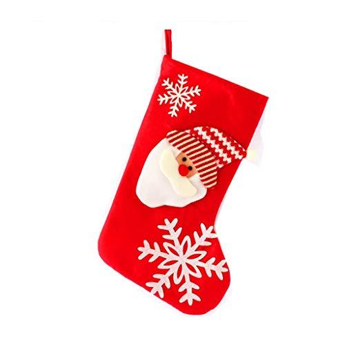 GHJU Weihnachten Weihnachtsbaum hängen Partei Baum Dekor Sankt Strumpf Socke Geschenk Beuter Tischset Anhänger Weihnachten Qingqiao