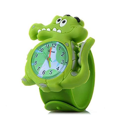 Niños Reloj de Pulsera, Lovely Kids Watches, 3D Cute Cartoon Wrist Watch, Silicone Children Wristwatch, Cute Animal Penguin Ladybird Owl Dolphins Watch Band for Little Girls Boys