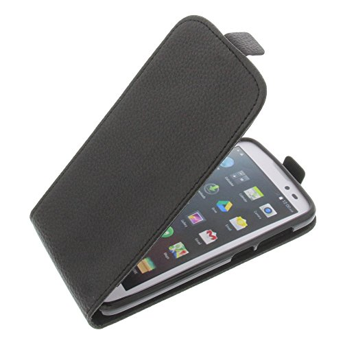 Tasche für Mobistel Cynus T6 Flipstyle Silikon Inlay Schutz Hülle schwarz