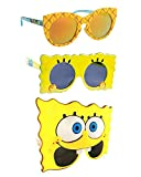 Sun-Staches Spongebob Party Bundle - Spongebob Party Supplies: 1 x Spongebob Adults/Kids, 1 x Spongebob Sunglasses for Kids 3-9, 1 x Spongebob Kids Sunglasses 3-9 Black