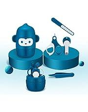 Okitryベビー 爪切りセット 新生児爪切り 赤ちゃん爪切り ベビーお手入れセット ベビー爪切り ベビー爪やすり ベビーハサミ ベビーピンセット ネイルケア 0ヵ月から対象 ベビー用品 ブルー
