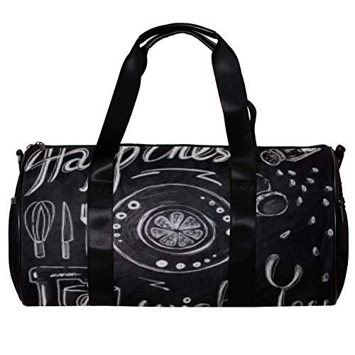 Anmarco Duffel Bag per Donne Uomini Wish You Happiness Sport Palestra Tote Bag Weekend Borsa Da Viaggio Borsa Da Viaggio All'aperto