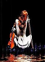 クロスステッチキット刺繍DIY大人初心者子供-ステッチクラフト針仕事-自分でやる家の装飾のためのアートクロスステッチ11ct40x50cm-バイオリンミュージックウーマン