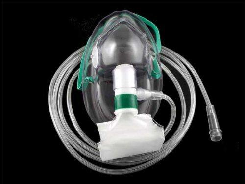 Non-Rebreather Oxygen Mask (Full Non-rebreather) AKA NRB, Medsource International (Case of 50 Adult Masks)