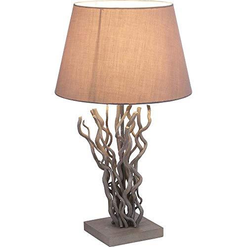 Globo 25631 - Lámpara de mesa (tela), color gris