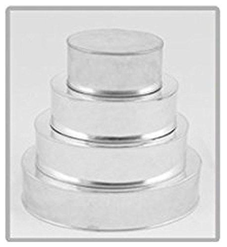 Lot de 6 Moule à casseroles 5 étages Cercle rond + 15,2 cm pétales mariage boîtes à gâteaux