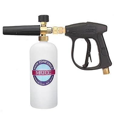 MATCC High Pressure Washer Gun 3000 PSI Foam Wash Gun Snow Foam Lance Snow Foam Cannon Foam Blaster With M22-14mm Thread