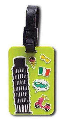 étiquettes de Valise Ciao 12 x 7 cm Vert 2 pièces