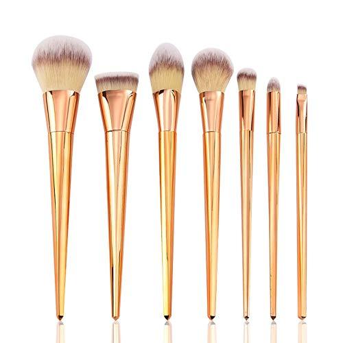Pinceaux de maquillage pour débutants Brosse de fond 7Pcs Trousse de maquillage pour brosses cosmétiques