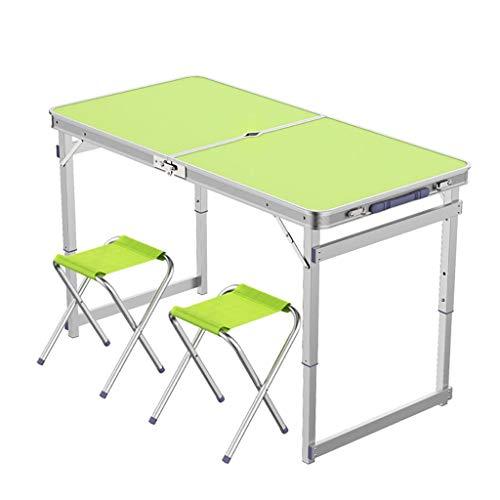 Folding table Tables et chaises Pliantes Portables, repliables Rapides en 8 Secondes, 3 hauteurs réglables en Hauteur de 70/60/55 cm, pour Les Pique-niques en intérieur et extérieur -LJ Jing Shop
