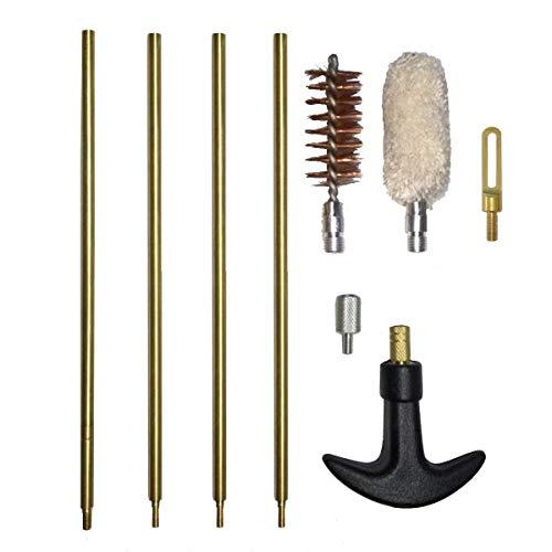 S&Hサプライ 散弾銃 12番 用 洗い矢 セット (ロッド・ブラシ・油拭き・パッチプーラー)