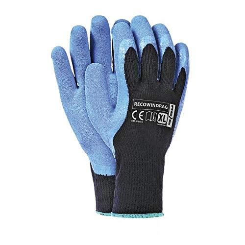 Winter Arbeitshandschuhe Warm | Gr10 | RECOWINDRAG Thermo Handschuhe | schützt vor Kälte | Gummi Bedeckt - 12 Paar |