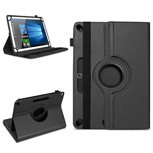 Tablet Tasche für 10-10.1 Zoll Hülle Schutzhülle Hülle Cover 360° Drehbar Neu, Farben:Schwarz, Modell:ARCHOS 101b Xenon