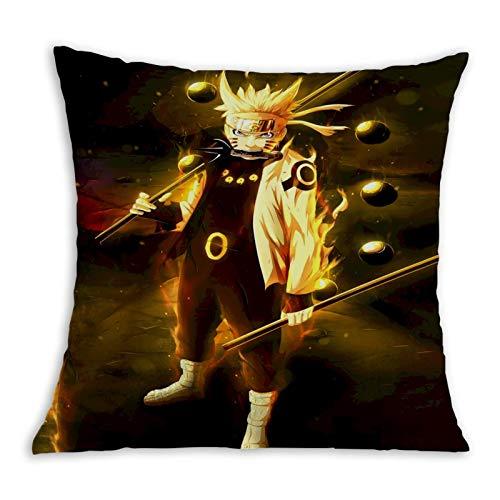 3354 Best Na-ru-to - Funda de almohada de papel pintado suave para cama de dibujo, sala de fundas de almohada