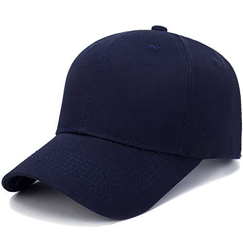 Baseball Cap Basecap Piebo Unisex Baseball Kappen Baseball Mützen für Draussen Sport oder auf Reisen Reine Farbe Baseboard Baseballkappe Kappe Mütze (Z-Dunkelblau)