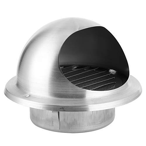 Regalo de abril Campana de rejilla de ventilación duradera, ventilación de aire de fácil instalación de 125 mm, acero inoxidable 304 decorativo para aberturas de campana extractora Secador