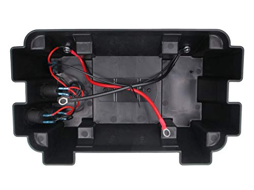 Pactrade Marine Battery Box Dual USB Power Voltmeter Sockets Anderson Connector
