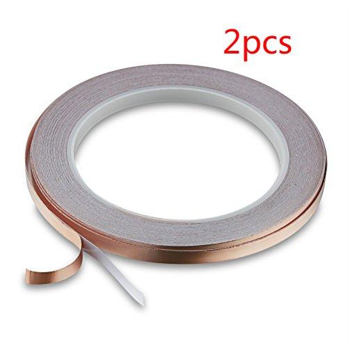 2 Stück EMI Abschirmband UEETEK Selbstklebend Kupferband für Elektrische Reparaturen EMI Abschirmung 30M x 6MM