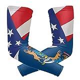 hgdfhfgd Michigan State Flag USA American Cooling Arm Sleeves Cover UV Protección Solar para Hombres Mujeres Running Golf Ciclismo Brazo Calentador Mangas 1 par