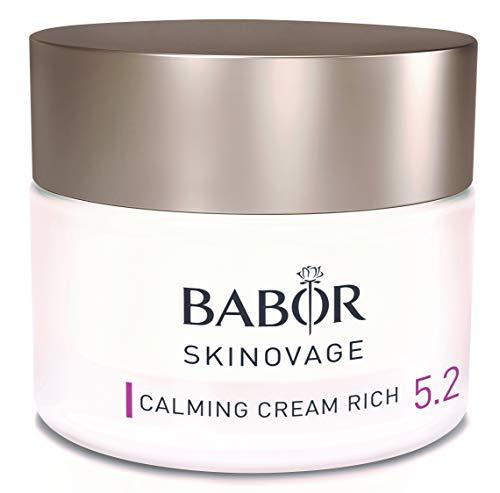 BABOR SKINOVAGE Calming Cream Rich, besonders pflegende Gesichtscreme, reichhaltige Intensiv-Pflege für trockene & empfindliche Haut, Age Prevention, 1 x 50 ml
