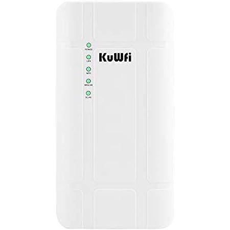 KuWFi 300Mbps Impermeable al Aire Libre 4G LTE CPE Router con Adaptador PoE CAT4 LTE Routers 3G/4G SIM Tarjeta WiFi Router para Cámara IP/Cobertura ...