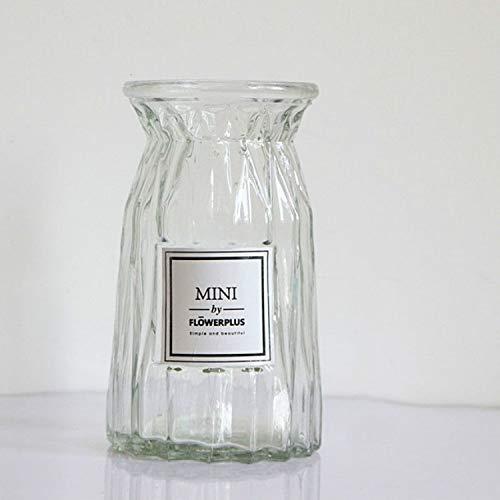 Wand-etiket wanddecoratie – contrastrijke vaas van transparant glas, Origami-arrangementen, bloemenarrangementen, kantoorbenodigdheden, artikelgrootte: medium.