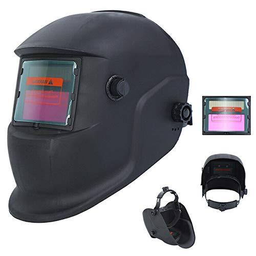 Paneltech Schweißhelm, automatische Verdunkelung, DIN9 - DIN13 Schweißmasken, Schweißhelme Plus Schleiffunktion, schwarz