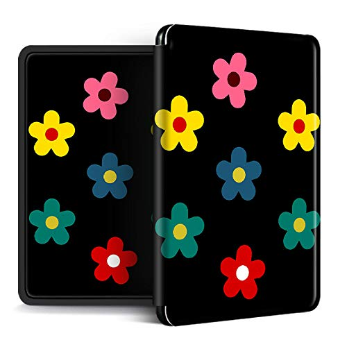 Funda para Kindle Paperwhite,Compatible con Kindle Paperwhite 4 Carcasa Trasera para Kindel Paperwhite 2019 Auto Sleep/Wake Smart Cover De Colores Flores Simples Impresas, para No.Pq94Wif