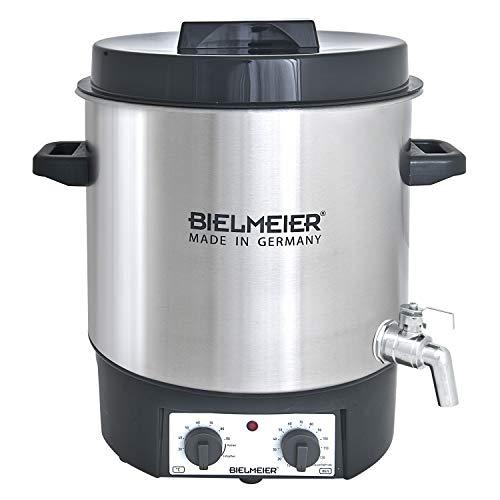 Bielmeier 495400 Einkoch und Glühwein-Vollautomat, 27 L, 1/2 Zoll Edelstahl-Auslaufhahn, 1800 W, BHG 495.4