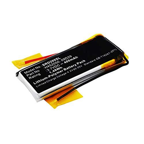 subtel® Batería Premium Compatible con Cardo Scala Rider Teamset Pro, Scala Rider Multiset Q2-09D29,H452050 (400mAh) bateria Repuesto Pila